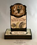 By Debbie Mageed, Going Global, Number of Years, Stampin Up, Box Card, Fun Fold Card