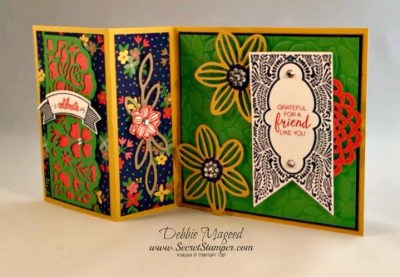 Beautiful Banners, Thoughtful Banners, Falling Flowers, Detailed Floral Thinlits, Fun Fold Card, Stampin Up 2