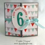 By Debbie Mageed, Number of Years, Foxy Friends, Vertical Greetings, Stampin Up