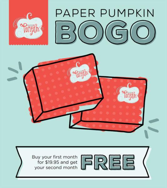 Paper Pumpkin, BOGO, Promotion