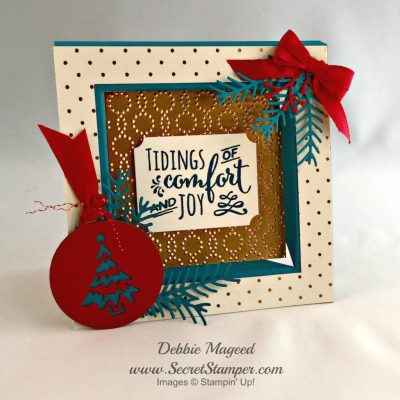 Stampin' Up! Christmas Pines Frame Card for Pals Blog Hop