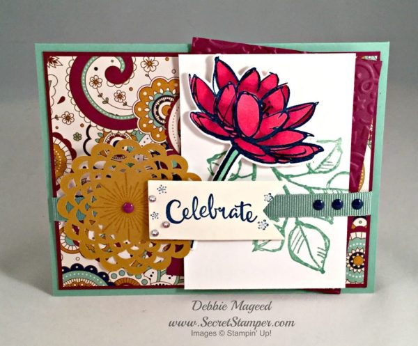 By Debbie Mageed, It's a Celebration, Remarkable You, Stampin Up, Birthday