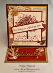 By Debbie Mageed, Sheltering Tree, French Foliage, Easel Card, Fun Fold, Stampin Up