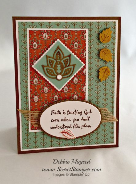 By Debbie Mageed, Artistically Asian, Paisleys & Posies, Flourishing Phrases, Sympathy, Autumn, Stampin Up