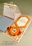By Debbie Mageed, Bunch of Blossoms, Pansy Punch, Petite Petals Punch, Fruit Stand DSP, Floral Affection Embossing Folder, Calendar, Post it note holder, Stampin Up