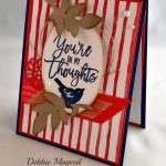 By Debbie Mageed, Thoughtful Branches, Rose Garden Thinlits, May Flowers Framelits, Birds & Blooms Thinlits, Stampin Up