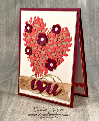 By Debbie Mageed, Sealed with Love, Rose Wonder, Bloomin' Hearts Thinlits, Label Card Thinlits, Valentines, Anniversary, Wedding, Stampin Up