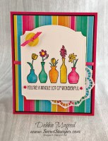 Stampin' Up! Vivid Vases for the Fun Color Challenge at Retro Rubber