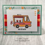 By Debbie Mageed, Tasty Trucks, Garden in Bloom, Teeny Tiny Wishes, Carried Away, Stampin Up