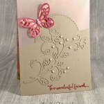 By Debbie Mageed, Dragonfly Dreams, Bold Butterfly Framelits, Butterflies, Thinlits, Flourish Thinlits, Stitched Shapes Framelits, Vellum, Birthday, Stampin Up