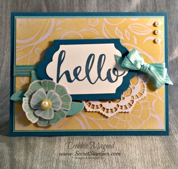 By Debbie Mageed, Hello, Sponging, Stampin Up
