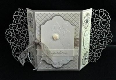 I'm So in Love with That's the Tag for a Fun Fold Wedding Card