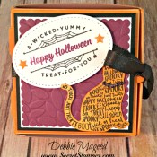 Spooky Cat Loves Treats in the Stampin' Up! Mini Pizza Boxes