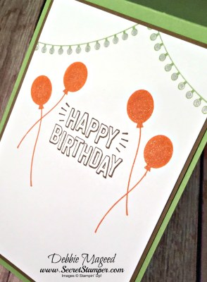 By Debbie Mageed, Blooms & Wishes, Confetti Celebration, Birthday, Music, Stampin Up