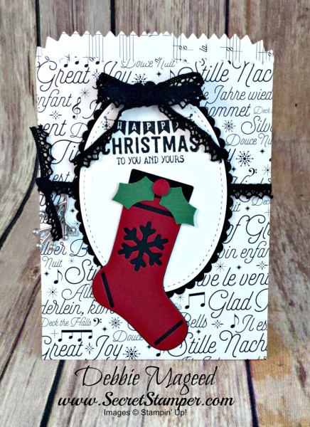 By Debbie Mageed, Label Me Pretty, Labels to Love, Holiday, Christmas, Mini Treat Bags, Gift Card Holder, Stamin Up