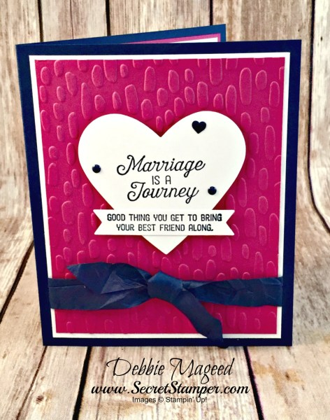 By Debbie Mageed, Flourishing Phrases, Blooms & Wishes, Anniversary, Wedding, Stampin Up
