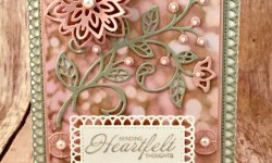 By Debbie Mageed, Heartfelt Blooms, Flourish Phrases, Flourish Thinlits, Friendship, Sympathy, Stampin Up