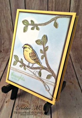 Beautiful Spring Card featuring #Best Birds, #Birds&Blooms, #SecretStamper, #StampinUp