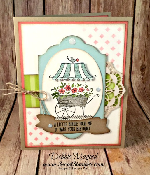 Lovely Birthday Card Featuring #FriendshipsSweetestThoughts, #BirdBanter, #SecretsToStamping, #StampinUp
