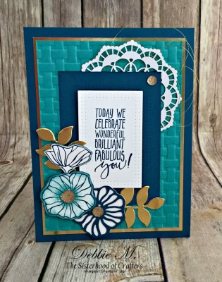 This Picture Perfect Birthday Card is Oh So Eclectic for the Sisterhood of Crafters