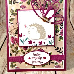 Cute All Occasion Card Featuring #Hedgehugs, #ShareWhatYouLove, #Friendship, #SecretsToStamping, #StampinUp