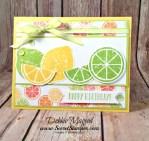 Refreshing Birthday Card featuring #LemonZest, #TuttiFrutti, #Birthday, #SecretsToStamping, #StampinUp