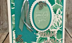 Elegant Card Featuring #DetailedwithLove, #MissYou, #AllOccasion, #AltenewLayeredDahliaStencil, #SecretsToStamping, #StampinUp
