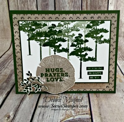 Sending Thoughts for a Masculine Card that is Rooted in Nature for Retro Rubber