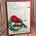 A Best Birds Christmas Card Using Stampin' Blends for Hand Stamped Sentiments