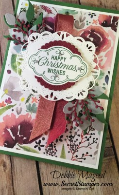 Elegant and Easy Flourish Filigree Christmas Card for the Sisterhood of Crafters
