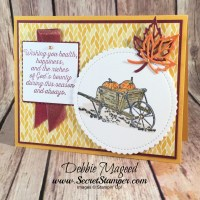 Pleasant Pheasants Thanksgiving Card for Hand Stamped Sentiments