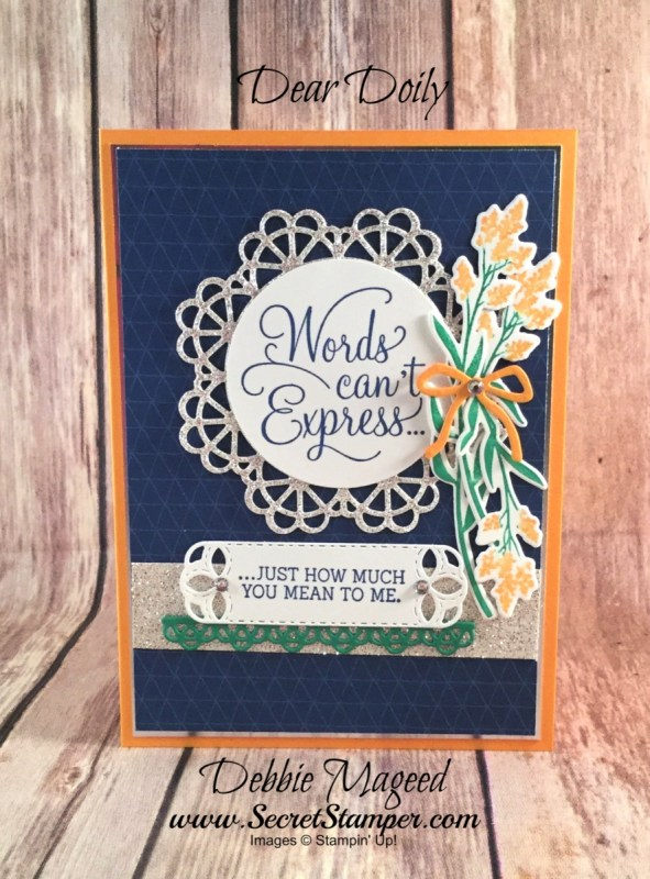 Sweet Friendship Card Featuring Dear Doily, #AllOccasion #Friendship #OccasionsCatalog #DebbieMageed #SecretsToStamping #StampinUp