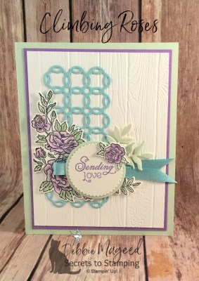 A Spring Card Using Climbing Roses for Hand Stamped Sentiments