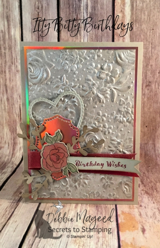 Vintage Birthday Card using Itty Bitty Birthdays and Tea Together Stamp Sets by Stampin' Up!
