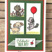 A Birthday Card with Bella & Friends for the Alphabet Challenge