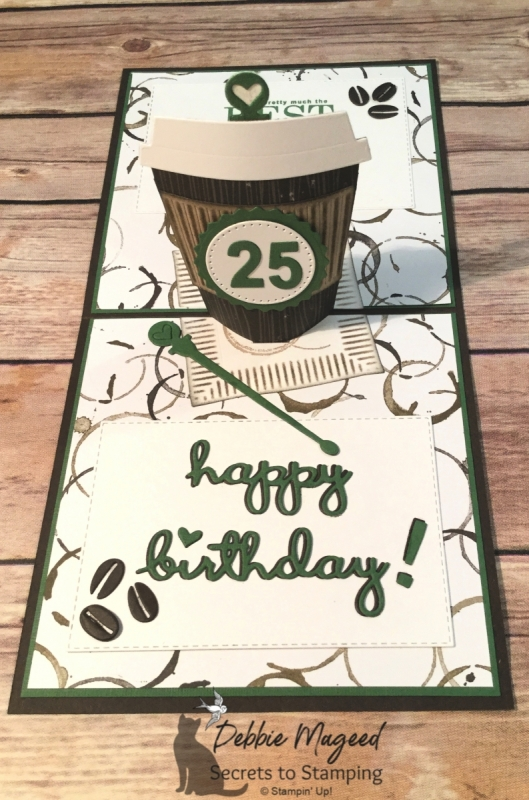 Birthday Card for any Coffee Lover with Coffee Cafe and Coffee Cup Popup Dies