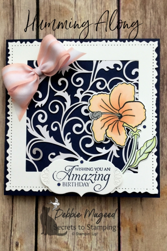 Elegant Birthday Card Using Humming Along Stamp Set by Stampin' Up!