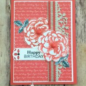 Paper Pumpkin Birthday Card for Hand Stamped Sentiments