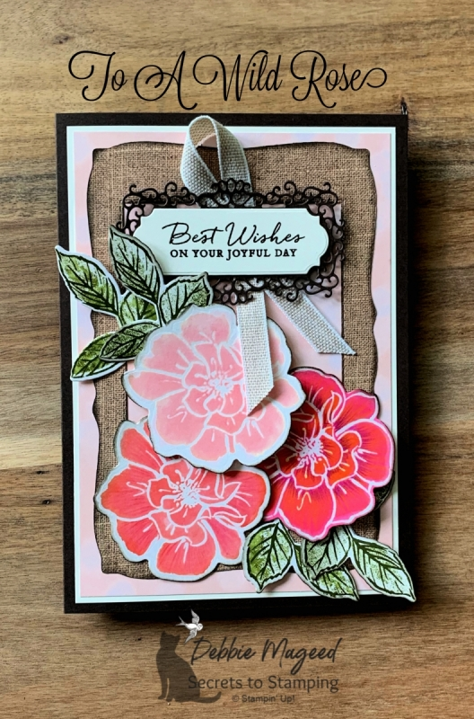 Rustic Birthday Card Featuing To A Wild Rose by Stampin' Up!