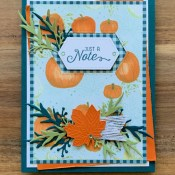Flourishing Phrases Come to Gather for Hand Stamped Sentiments
