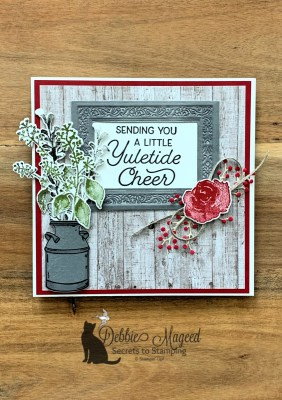 Frosted Foliage Holiday Card for the Sisterhood of Crafters