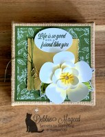 More Good Morning Magnolia Fun Using Burlap Canvas