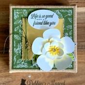 More Good Morning Magnolia Fun Using Burlap Canvas