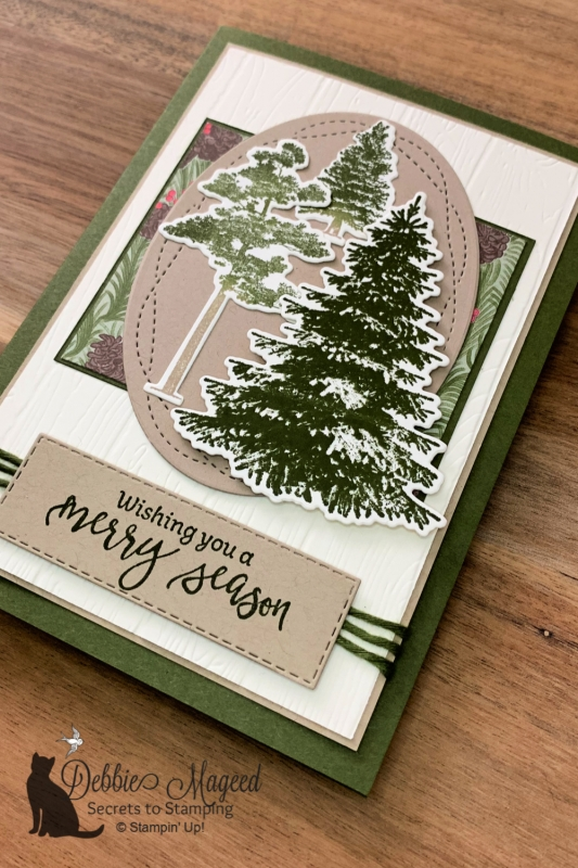 Holiday Card Featuring Winter Woods and Rooted In Nature by Stampin' Up!