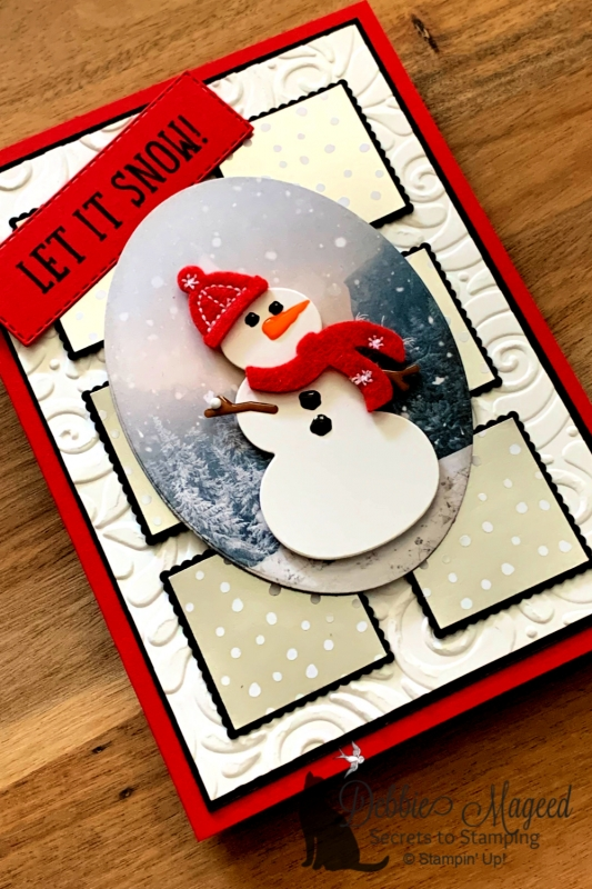 Fun Winter Card Featuring Let It Snow Embellishment Kit by Stampin' Up!