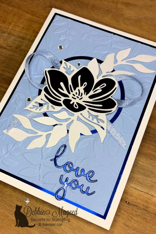 Shimmer Laser Cut Floral Card by Stampin' Up!