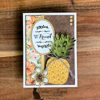 Friendship Card Using Timeless Tropical for the Sisterhood of Crafters