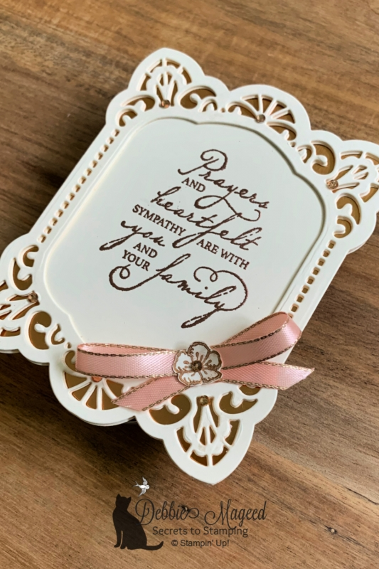 Woven Heirlooms Shaped Card by Stampin' Up!