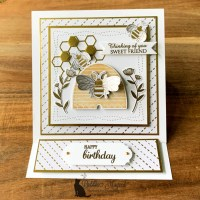 Sweet Honey Bee Easel Card for the Alphabet Challenge