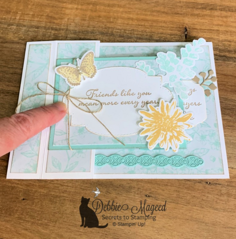 Friendship Card Featuring Positive Thoughts by Stampin' Up!